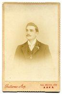 RETRATO DE HOMBRE, PORTRAIT OF MAN, PORTRAIT D'HOMME. FOTO ANTIGUA, OLD PHOTO, CIRCA 1880 - LILHU - Fotos