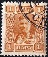MONTENEGRO, PRINCIPE NICHOLAS I, 1907, 1 Pa., FRANCOBOLLO USATO Mi. 61  Scott 75, YT 76 - Montenegro