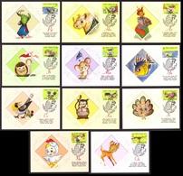 Ukraine 2019 MAXI CARD Sheet 11 Stamps Ukraine Alphabet Animation Cartoons #794 - Ucraina