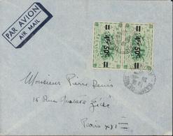 YT 258 X2 4.5 Sur 25 Vert CAD Saint Denis Réunion 26 10 47 Sur Lettre Par Avion - Reunion Island (1852-1975)