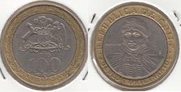 Cile 100 Pesos 2005 Bimetallic KM#236 - Used - Chile