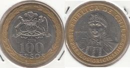 Cile 100 Pesos 2006 Bimetallic KM#236 - Used - Chile