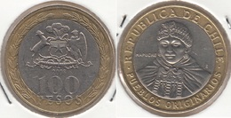 Cile 100 Pesos 2008 Bimetallic KM#236 - Used - Chile