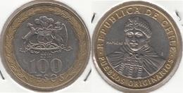 Cile 100 Pesos 2010 Bimetallic KM#236 - Used - Cile