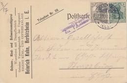 CP Affr Michel 85 + 98 Obl HERBITZHEIM / * (ELS) * Du 21.12.16 Adressée à Straßburg - Poststempel (Briefe)