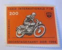 Vignetten, Marke Postfrisch, Motorrad Sechstagefahrt, DDR 1964   ♥ (17062) - Motorbikes