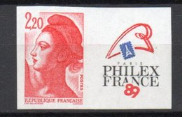- FRANCE N° 2461 Neuf ** - 2 F. 20 Rouge Philexfrance 89 - NON DENTELÉ - Cote 50 EUR - - France
