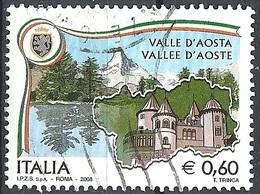 Italia, 2008 Valle D'Aosta 0.60 €. # Sassone 3038 - Michel 3244 - Scott 2876  USATO - 6. 1946-.. Repubblica
