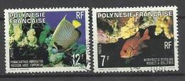 Polynésie  Poste   N°  147  Et 149  Rouget à Oeillères Et Ange Empereur  Oblitérés B/TB  ..   Soldé à Moins De 20 %  ! ! - Oblitérés