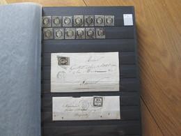 - 2 CLASSEURS  DE 1849/1900 - Cote + 62 000 € - Collections (en Albums)