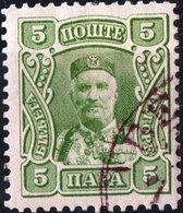 MONTENEGRO, PRINCIPE NICHOLAS I, 1907, 5 Pa., FRANCOBOLLO USATO Mi. 63  Scott 77, YT 78 - Montenegro