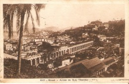 POSTAL DE BRASIL DE LOS ARCOS DE SANTA THERESA EN RIO DE JANEIRO DEL AÑO 1925 - Rio De Janeiro