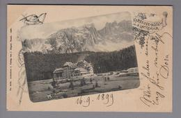 AK Italien Trentino Karersee Hotel 1899-09-16 Foto J.Gugler # 2068 - Autres Villes