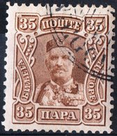 MONTENEGRO, PRINCIPE NICHOLAS I, 1907, 35 Pa., FRANCOBOLLO USATO Mi. 68  Scott 82, YT 83 - Montenegro