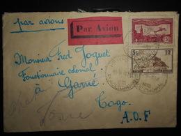 France Poste Aerienne , Lettre De Paris 1930 Pour Togo - Poste Aérienne