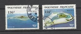 Polynésie  Poste   N°  172  Et  173  Maupiti Et Bora-Bora    Oblitérés B/TB  ..   Soldé à Moins De 20 %  ! ! - Oblitérés