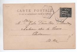 1901 - CP De THORENC (ALPES MARITIMES) Avec SAGE - Marcophilie (Lettres)
