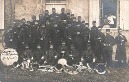 Cpa Carte Photo Militaire Musique Du 67e Regiment Territorial D' Infanterie Fanfare Du 15 Au 24 Mai 1913 - Regimenten