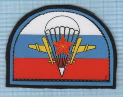 RUSSIA / Patch Abzeichen Parche Ecusson / UN Peacekeeping Mission Airborne Special Forces. Parachute. - Ecussons Tissu