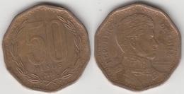 Cile 50 Pesos 2007 (narrow Year) KM#219.2 - Used - Chile