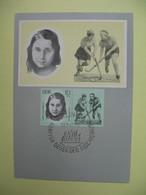 Carte-Maximum 1963 DDR Käthe Tucholla Hockey Sur Gazon - Lettres & Documents