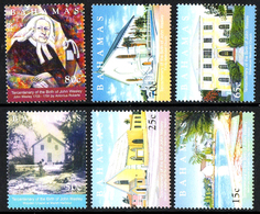 BAHAMAS 1163/68 Méthodiste , église , John Wesley - Theologen