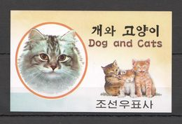North Korea, 2002. [02-7] Cats (booklet) - Hauskatzen