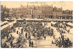 Cpa...Saint-Omer....grande Place...marché...animée....1933... - Saint Omer
