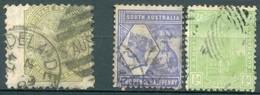 Australie Du Sud - 1892/1887 - Yt 42 - 62 A - 71 - Oblitérés - 1855-1912 South Australia