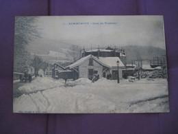 Remiremont Gare Du Tramway Sous La Neige écrite - Remiremont