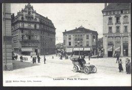 Lausanne - Place St. Françoise - Oldtimer - Automobil - Belebt – Animée - 1909 - VD Vaud