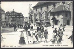 Lausanne - Eglise Et Place St. Françoise - Tramway - Tram - Ungelaufen - VD Vaud