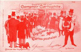 """PUB - Comptoir Cartophile - Les Voyageurs En Cartes Postales - J.P. Rostenne """"La Fibule"""" Bruxelles    (113327) - Belgium"""