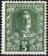 MONTENEGRO, RE NICHOLAS I, 1913, 5 Pa., FRANCOBOLLO NUOVO (MLH*) Mi. 88  Scott 101, YT 102 - Montenegro