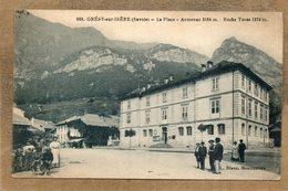 CPA - GRESY-sur-ISERE (73) - Aspect De La Place De La Mairie En 1923 - Gresy Sur Isere
