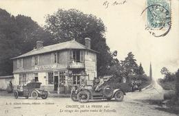 CPA Circuit De La PRESSE - Le Virage Des Quatre Routes De Folleville - Ansichtskarten