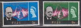 FIJI Scott # 215-6 MH & Used - Sir Winston Churchill - Fiji (...-1970)