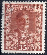 MONTENEGRO, RE NICHOLAS I, 1913, 35 Pa., FRANCOBOLLO USATO Mi. 93  Scott 106, YT 107 - Montenegro