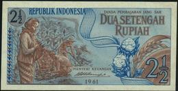 INDONESIA - 2 ½ Rupiah 1961 AU-UNC P.79 - Indonesië