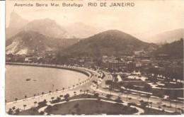 POSTAL  RIO DE JANEIRO - BRASIL  -  AVENIDA BEIRA MAR, BOTAFOGO - Rio De Janeiro