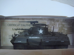 Char 1/43 Collections Atlas Avec Certificat D'autenticité Light Armored Car M8 - Véhicules