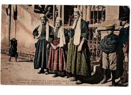 COSTUMES BRETONS PONT L ABBE CARTE COULEUR  ANIMEE - Costumes