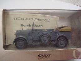 Char 1/43 Collections Atlas Avec Certificat D'autenticité Horch KFZ 15 - Vehicles