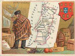 - Chromos -ref-ch863- Fil Geographique - Portugal - Carte Geographique Et Ressources : Morue - Huile De Palme - Porto - - Cromo