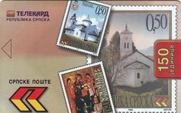 BOSNIA - Republica Srpska Telecard, Stamps, Sample No Chip And No CN - Bosnia