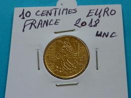 10 CENTIMES EURO FRANCE 2018 Unc  (  2 Photos ) - Francia