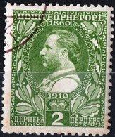 MONTENEGRO, RE NICHOLAS I, 1910, 2 Per., FRANCOBOLLO USATO Mi. 84  Scott 97, YT 98 - Montenegro