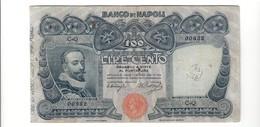 100 Lire Banco Di Napoli 10 11 1908 N.C. Miraglia Dell'aglio Mb/bb Forellini Chiusi LOTTO 2381.2 - [ 1] …-1946 : Kingdom