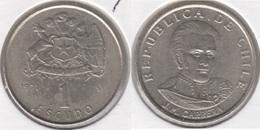 Cile 1 Escudo 1971 KM#197 - Used - Cile