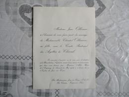 JOUE LES TOURS LE 24 MAI 1958 MADEMOISELLE CHANTAL OLLIVIER AVEC LE COMTE BETRAND DES AYETTES DE CLERVAL - Wedding